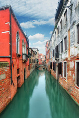 Canal in Venice, Italy at day