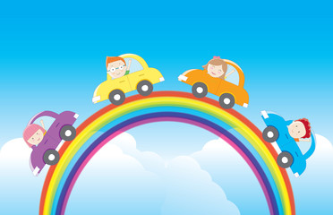 Driving cars on the rainbow