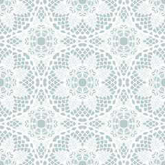 Lace white seamless mesh pattern.
