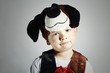 funny little Boy in Carnival Costume.Masquerade.Child.Halloween