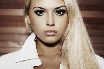 beautiful young woman.blond girl.healthy hair