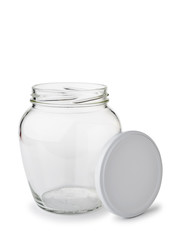 Paunchy Glass Jar