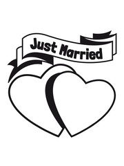 Marriage happy two hearts love just married