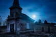 Haunted creepy abandoned graveyard - 75897931
