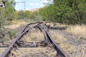 Unused railroad switch