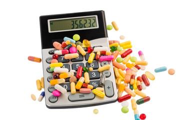 Tabletten und Taschenrechner