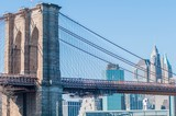 brooklyn bridge and new york city manhattan skyline