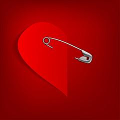 pinned heart