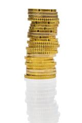 Hoher Stapel Münzen