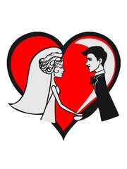 Marriage love happy heart before