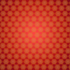 wallpapers with round yellow patterns on the red