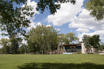 Theatre in the Park in Taos New Mexico USA