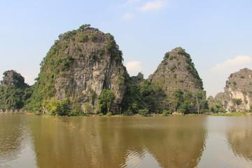 Paisaje de la provincia de Hoa Lu. Vietnam