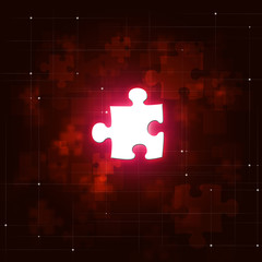 Abstract Puzzle Business Red Background