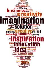 Imagination word cloud concept. Vector illustration