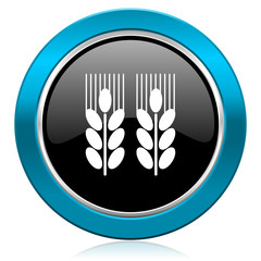 agricultural glossy icon