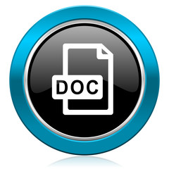 doc file glossy icon