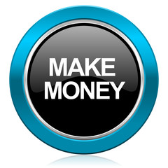 make money glossy icon