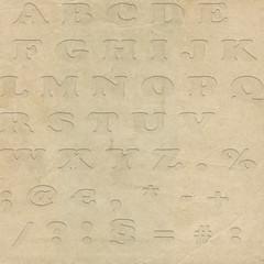 Alphabet XXXL - Stock Image
