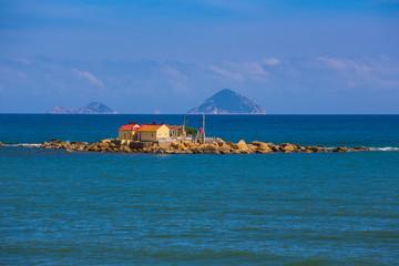 Buddhist temple on the island