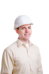 Engineer in helmet