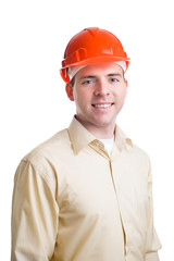 Portrait of an engineer in helmet