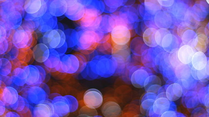 Bokeh of a Christmas tree - abstract background