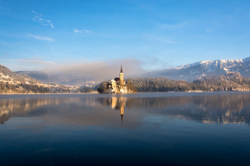 Idyllic morning at Lake Bled