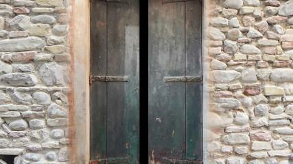 open door - green screen