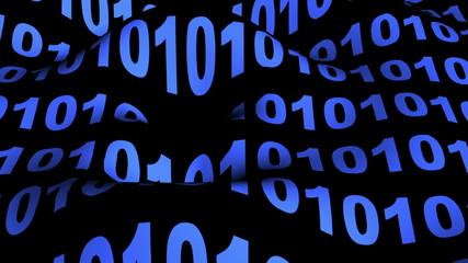 Wave of binary code