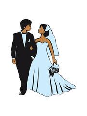 Marriage happy bride groom