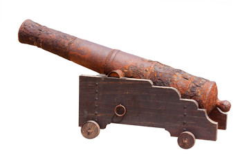 Large rusty cannon