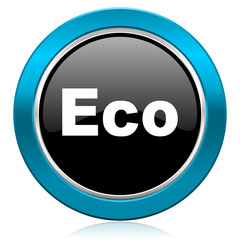 eco glossy icon ecological sign
