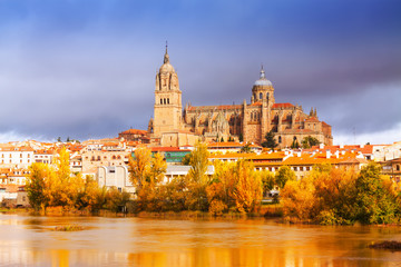 Salamanca Cathedral  in november