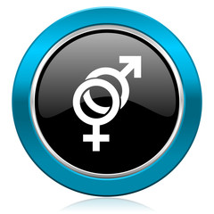 sex glossy icon gender sign
