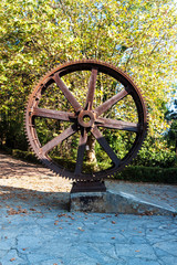 Old wheel of funicular