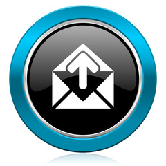 email glossy icon post message sign