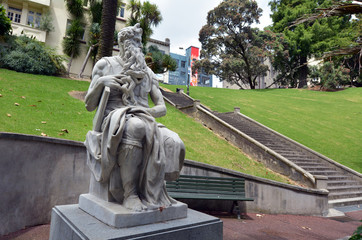Moses statue in Auckland New Zealand