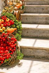 Decoration of fresh Vegetables