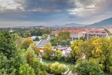 Aerial view of Pamplona