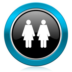 couple glossy icon people sign team symbol