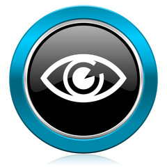 eye glossy icon view sign