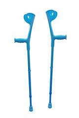 crutch for rehabilitation isolated