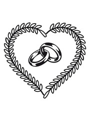 Marriage happiness heart rings