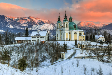 St. Ana baroque church in the morning