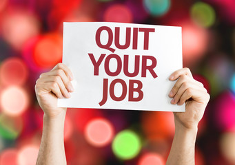 Quit Your Job card with colorful background