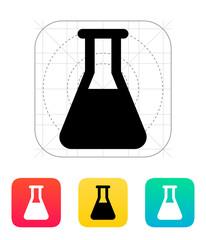 Full flask icon. Vector illustration.