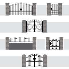 Entrance Gate Door Fence Garden