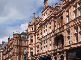 London, ornate building facades