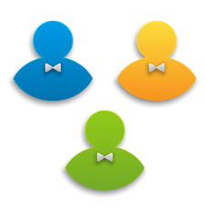 Colorful user icons, persons symbol